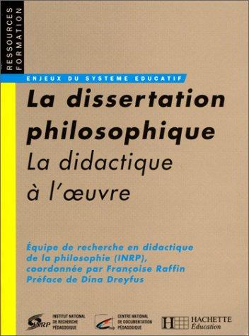 Dissertation philosophique (La)