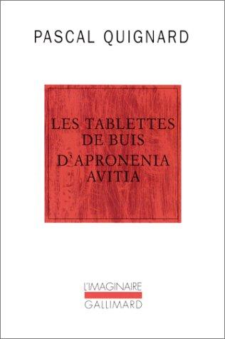 Les Tablettes de buis d'Apronenia Avitia