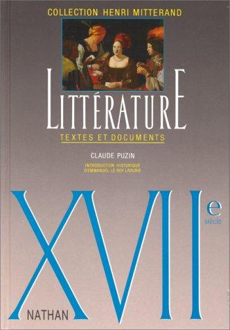 Littérature XVIIe siècle