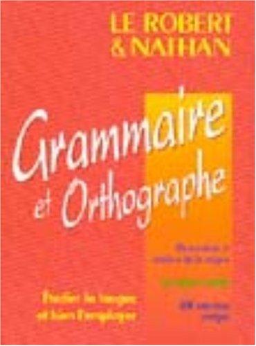 Grammaire et orthographe