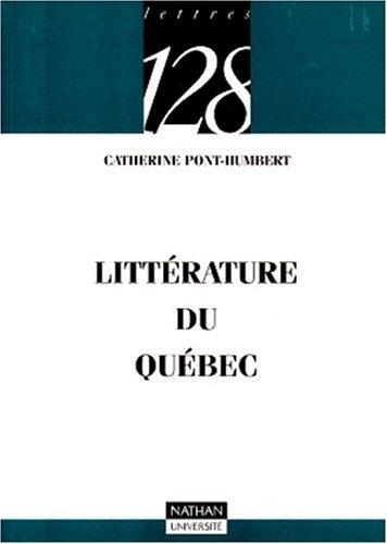 La littérature du Québec