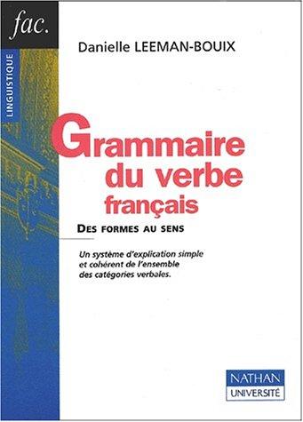 Grammaire du verbe français