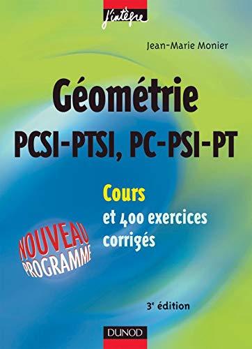 Géométrie PCSI-PTSI, PC-PSI-PT