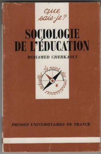 SOCIOLOGIE DE L'EDUCATION