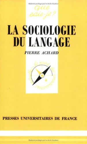 sociologie du langage (La)