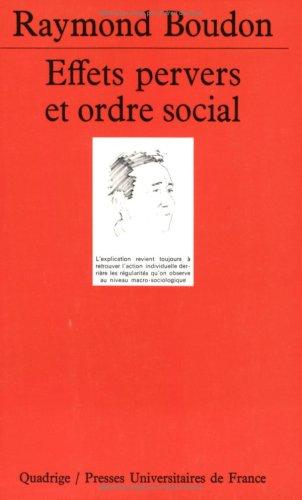 Effet pervers et Ordre social
