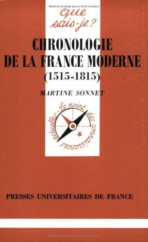 Chronologie de la France moderne, 1515-1815