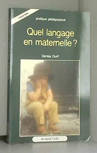 Quel langage maternel ?