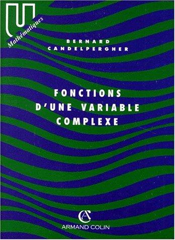 Fonctions d'une variable complexe