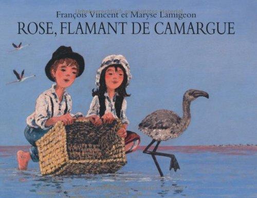 Rose, flamant de Camargue
