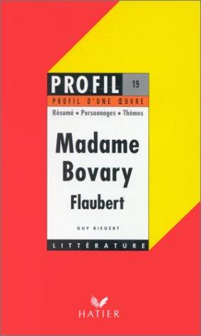 Madame Bovary de Flaubert, 1856