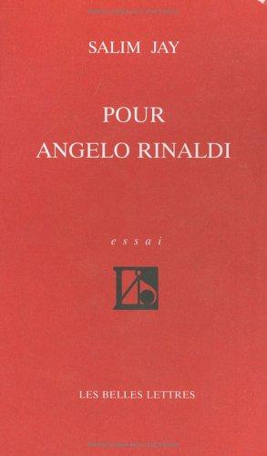 Pour Angelo Rinaldi