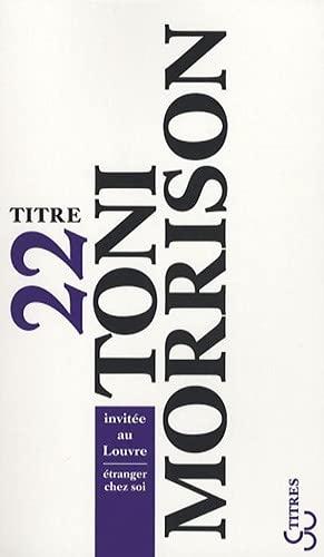 Toni Morrison invitée au Louvre