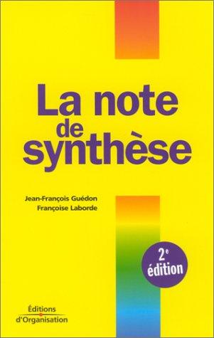notes de synthèse (La)