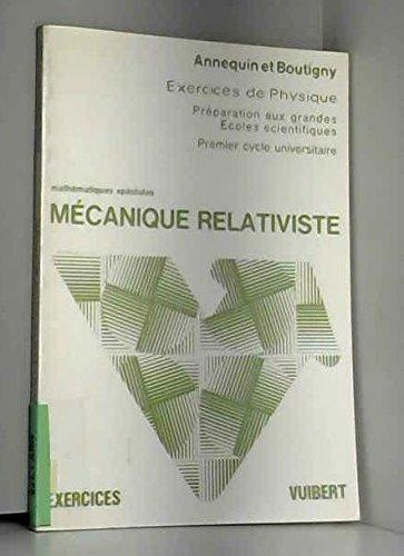 Mécanique relativiste