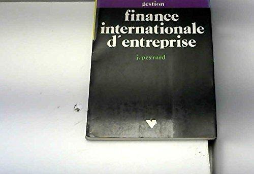 Finance internationale d'entreprise