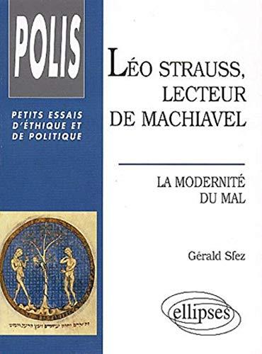 Léo Strauss, Lecteur de Machiavel