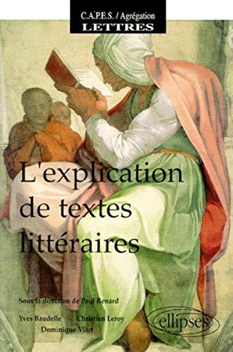 explication de textes littéraires (L')