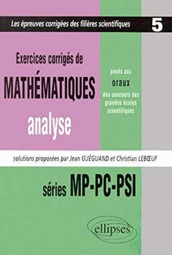 Exercices de mathématiques, analyse