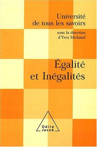 Egalité et inégalités