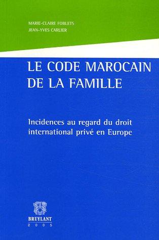 Code marocain de la famille (Le)