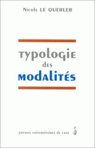 Typologie des modalités