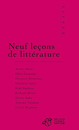 Neuf leçons de littérature