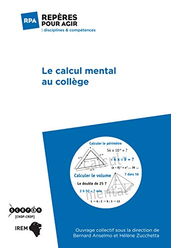 Le calcul mental au collège