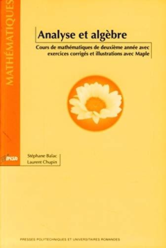Analyse et algèbre