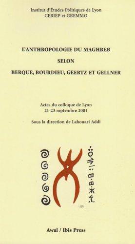 L'Anthropologie du Maghreb